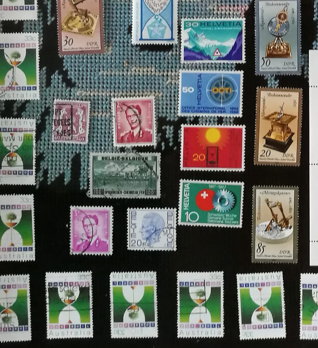 Hourglass Post Stamps set