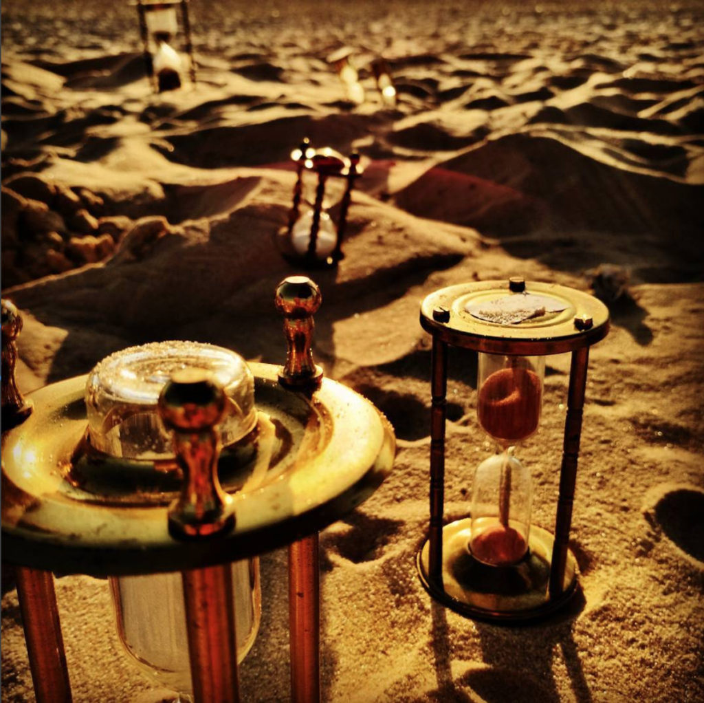 Hourglasses on the beach set