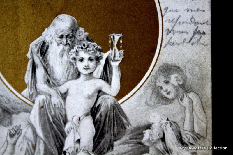 Hourglass 266, post card3, Father Time